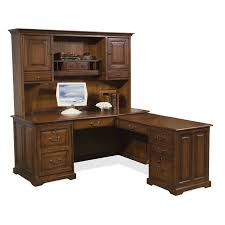 Home Computer Desks With Hutch Riverside Cantata L Shaped Workstation Computer Desk Hayneedle