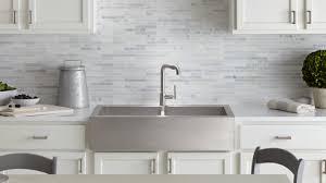 stainless steel apron sink apron front kitchen sinks new products kohler regarding elegant