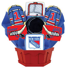 New York Gift Baskets Nhl New York Rangers Cookie Bouquet Cookies By Design
