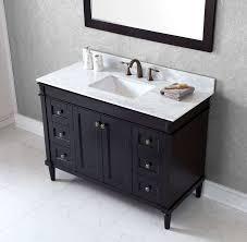 Bathroom Vanities With Marble Tops Virtu Usa 48 Single Bathroom Vanity Set With White Marble
