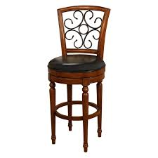 Backless Counter Stool Leather Counter Height Backless Bar Stools Made Of Teak Wood In Brown