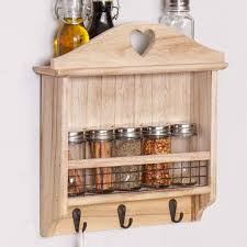 Wooden Wall Mount Spice Rack Wooden Wall Mounted Kitchen Spice Rack By Dibor