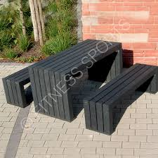 recycled plastic picnic tables public use recycled plastic picnic table set fitness sports equipment