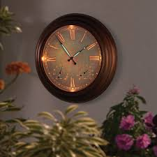 the 24 outdoor lighted atomic clock the 24 outdoor lighted atomic clock hammacher schlemmer