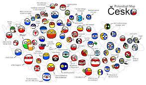 Map Of Czech Republic Polandball Map Of The Czech Republic By Ceskymicek On Deviantart