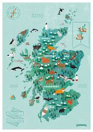 Launch Maps Wildlife Of Scotland U0027 Map Soon To Launch Kate Mclelland