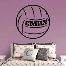 volleyball personalized name wall decal shop fathead for wall