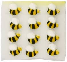 bumble bee cake toppers lucks sugar decorations bumble bee 24 count grocery