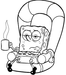 coloring pages of spongebob cool spongebob coloring sheets on