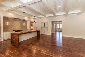 black walnut floor in nc home
