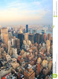 manhattan skyline new york city manhattan skyline aerial view stock photo image
