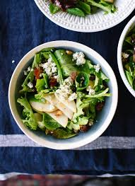 thanksgiving green salad recipes pear date u0026 walnut salad with blue cheese cookie and kate
