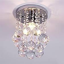amazon com mini modern crystal chandeliers flush mount rain drop