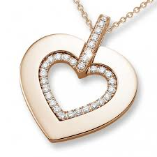 small diamond necklace images 0 36 carat heart shaped red golden pendant with small round jpg