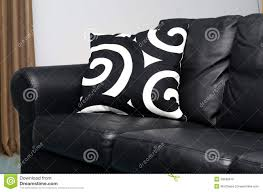 Black Sofa Pillows by Black Couch Royalty Free Stock Images Image 33648019