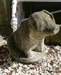 chanchito pig statue 9 antique gray cast cement garden outdoor