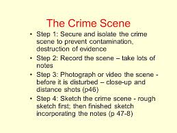 the crime scene chapter two forensic science physical evidence