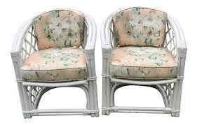 ficks reed trellis barrel club chairs a pair chairish