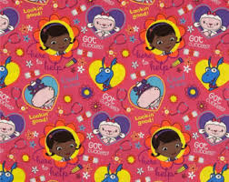 doc mcstuffins wrapping paper big book of boo boos etsy