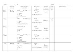 my daily schedule miss kindergarten
