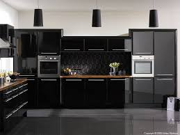 Black Gloss Kitchen Cabinets High Gloss Black Kitchen By Ba Components Cocinas Pinterest
