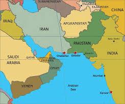 uae map pakistan uae map