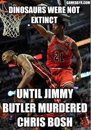 Chris Bosh Dinosaur Meme - 12 things we love about jimmy butler si com