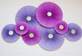 Pinwheel Decorations Paper Rosettes Paper Pinwheels Paper Fans Purple U0026 Lavender