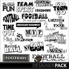 word design digital scrapbooking kits football word word design