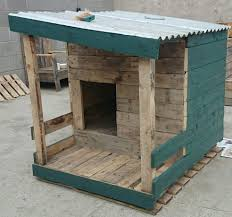 Decorations Natural Dog House Ideas Made From Wood Creative and