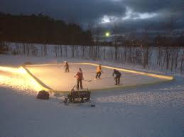 beautiful backyard nicerink in michigan backyard ice rinks