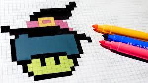halloween pixel art how to draw witch mushroom pixelart hello