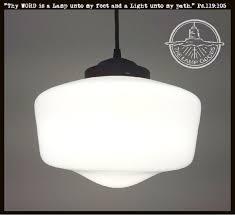 Vintage Pendant Light Fixtures Farmhouse Vintage Quality Milk Glass Pendant Light The L Goods