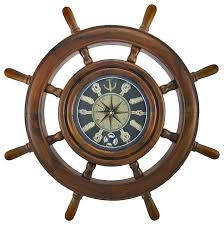 themed wall clock themed wall clocks wall clocks wooden ships wheel