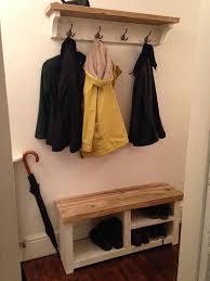 style reclaimed wood coat and shoe rack combo