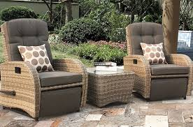 Garden Rocking Chair Uk Reclining Rattan Chairs Garden Chair Sets With Footstools Rests