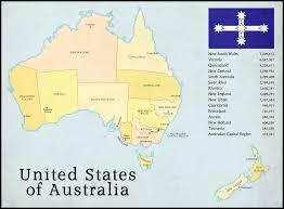 Australian States Map by United States Of Australia By Alternatehistory87 On Deviantart