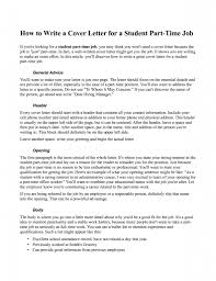 ideas of sample general cover letter for part time job in sample