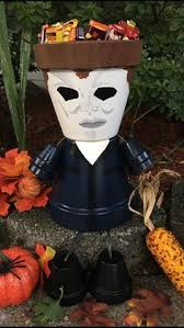 free ship day of the dead halloween planter pot person people