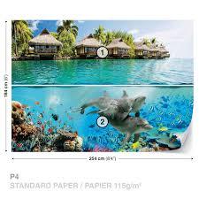 dolphins ocean island wall mural photo wallpaper 3193dk dolphins ocean island wall mural photo wallpaper 3193dk