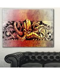 animal print l shades great deals on designart octopus sketch in yellow shade animal