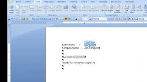 How To Create A Fax Cover Sheet In Word 2010 by Repeat Text In Ms Word Using Document Property Content Controls