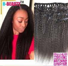 Yaki Clip In Human Hair Extensions by Buy Peruvian 8a Virgin Coarse Yaki Clip Hair Extensions