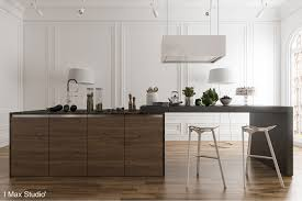 Modern Trim Molding by Black White U0026 Wood Kitchens Ideas U0026 Inspiration