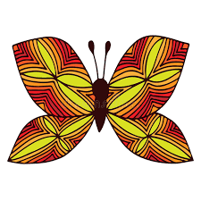 abstract pattern butterfly orange isolated butterfly with abstract pattern on the wing for