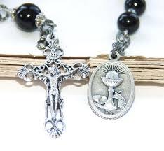 single decade rosary holy communion single decade rosary black onyx