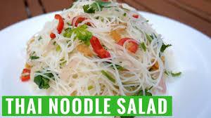 easy summer thai noodle salad recipe yum it youtube