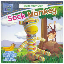 make your own sock monkey by craft for kids u2013 daves deals