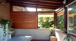 tettoia in legno per terrazzo tettoia su terrazzo con chiusure parziali san cesario mo