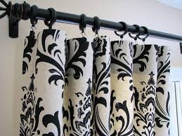 Black And White Window Curtains Breathtaking White Curtain Idea With Comely Black Artistic Motif